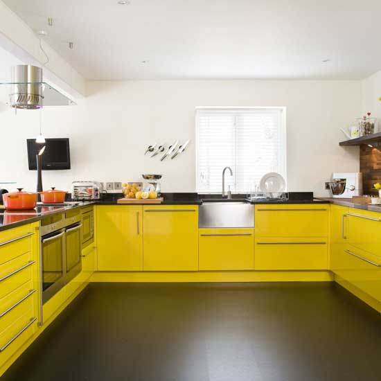Yellow kitchen design interior exterior home designs yellow kitchen design - Yellow interior house design photos ...