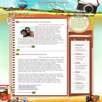 All I Wanna Do blogger template. converted WordPress to Blogger template. travel template blog