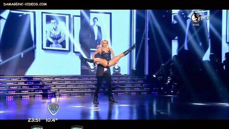 Argentina hot blonde Macaggo opens her legs