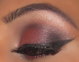 mac, cranberry, eyeshadow, carbon, paradisco, tutorial, blog, smokey, makeup, beauty, smokey, naked lunch, bridal