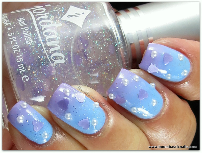 Boombastic Nails: Dermelect Above It, Luxurious & Jordana Lilac Hearts