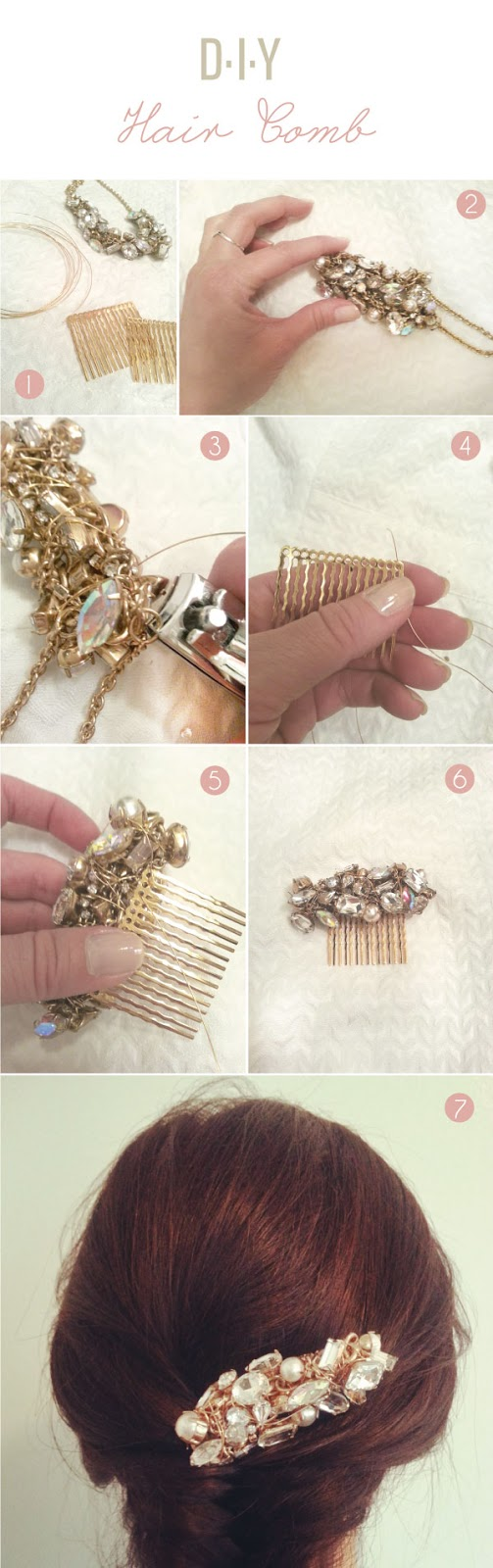 West End Girl DIY Making A Hair Comb