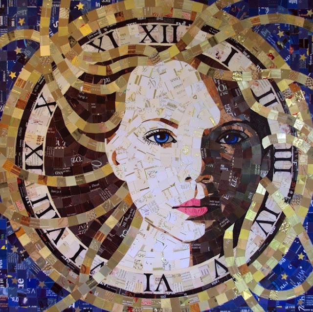 SandhiSchimmelGold6 Junk Mail Mosaics   Sandhi Schimmel Gold