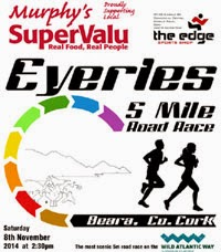 New 5 mile race in Eyeries, West Cork...Sat 8th Nov 2014