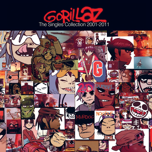 Gorillaz - The Singles Collection (2001-2011) Cover