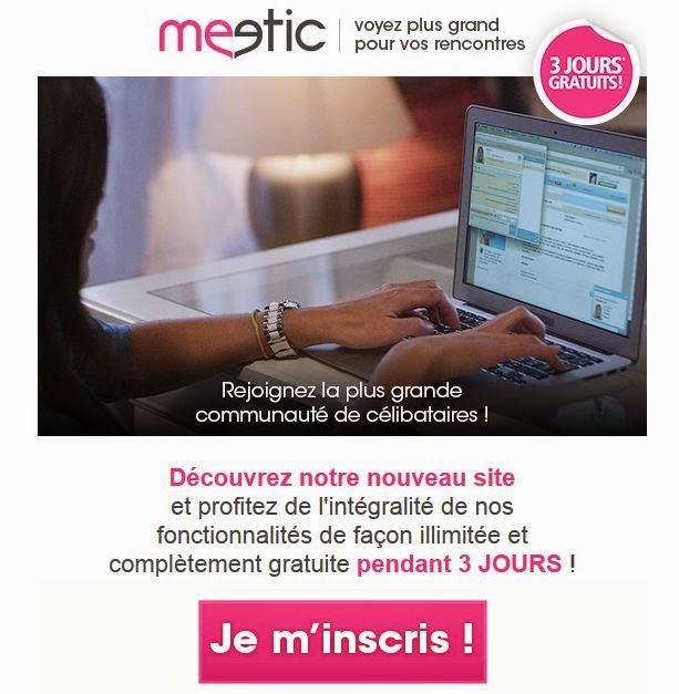 Meetic gratuit 3 jours offert en Octobre 2014