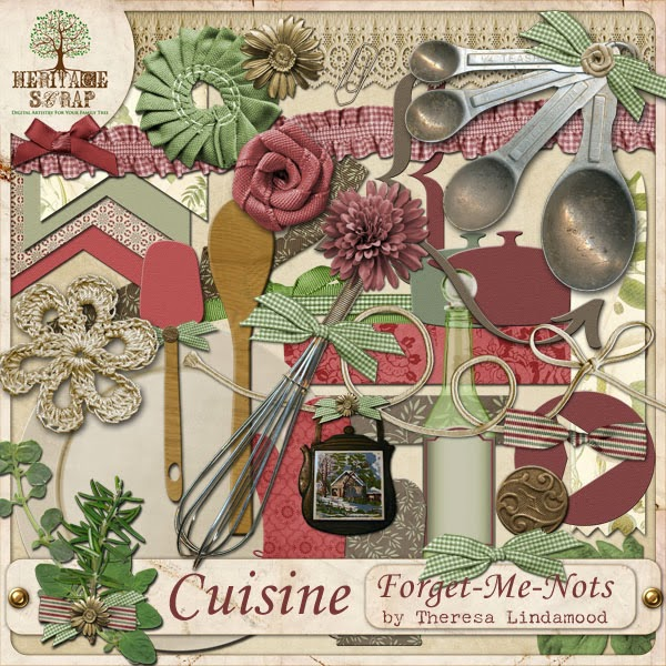 Forget me nots design are you hungry for Scrapbooking cuisine