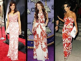 vestidos com florais