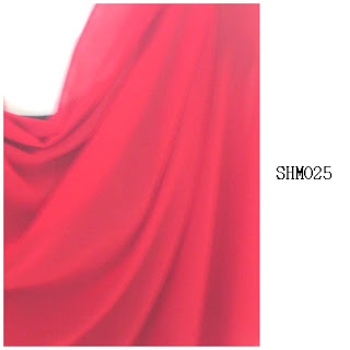 shawl halfmoon plain merah ikan