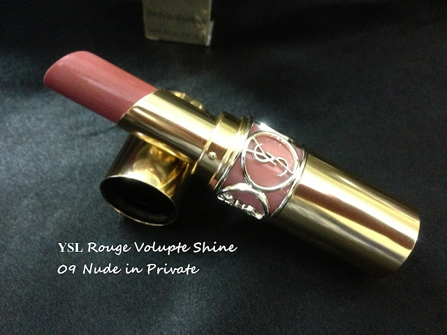YSL Rouge Volupte Shine 09 nude in private