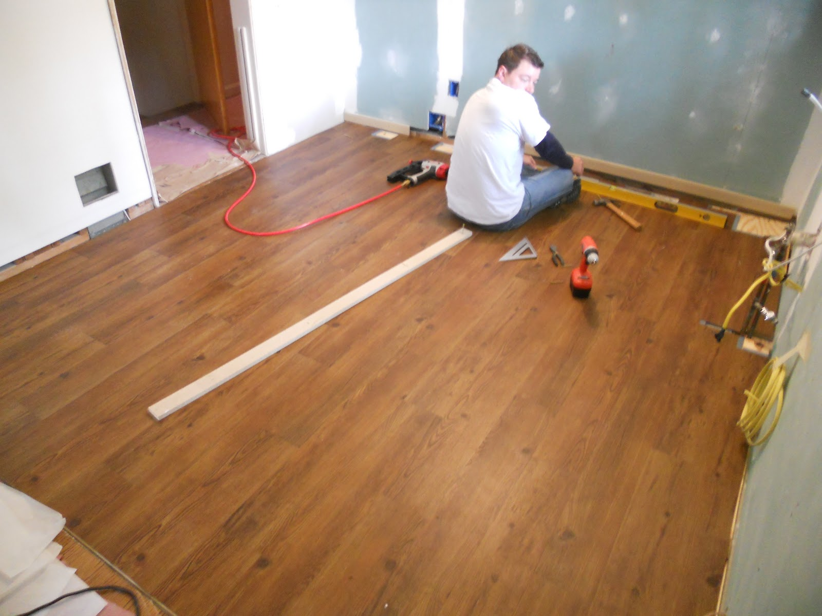 Peel And Stick Laminate Flooring the floors are prepped what about going over them with a self stick vinyl wood plank product in a color i prefer or even make a large parquet design Where Were We