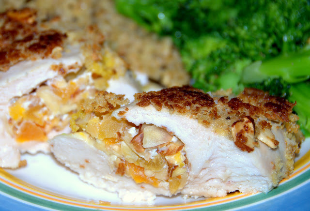Apricot & Goat Cheese Stuffed Chicken