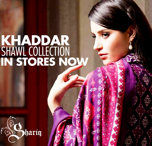 Shariq Textiles Khaddar Shawl Collection 2014