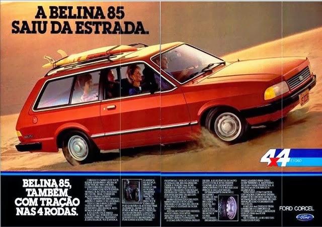 Propaganda da Ford Belina de 1985. Pertence à família do Corcel.