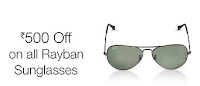 Amazon India : Get Rs. 500 off on all Rayban Sunglasses Offer : BuyToEarn