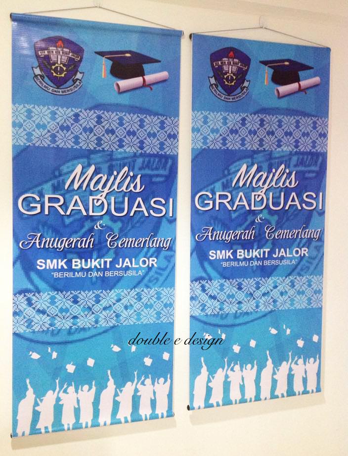 Double Ed Majlis Graduasi Anugerah Cemerlang Bunting Banner