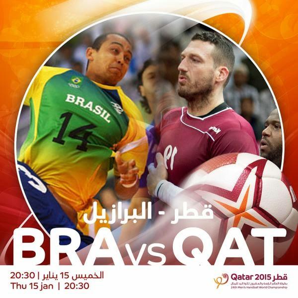 mundial handball: Ver Qatar-Brasil ONLINE!