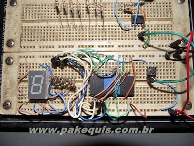 Montagem do contador no protoboard