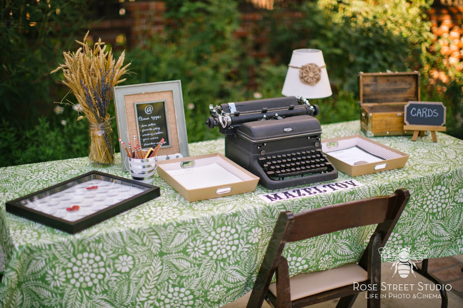 Typewriter Wedding Guest Book l Rose Street Studio l Take the Cake Event Planning