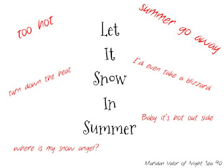 Snow in Summer art for July Pinterest Challenge; share pins or boards that help you cool down when it's hot out. Night Sea 90.