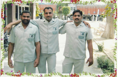 Ch Mansha Gujjar (Left) with his Kabaddi team mates