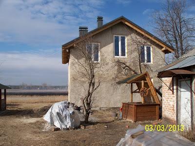 Дом из соломы под Полтавой.