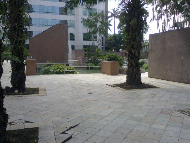 Damansara Uptown secret gardens central garden with pool and waterfall