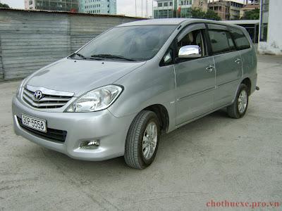 Cần thuê xe INNOVA tại Hà Nội