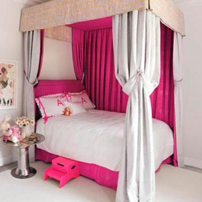 Decoración rosa habitación infantil