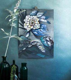 Sofie Børsting kunst print med blomstermotiv