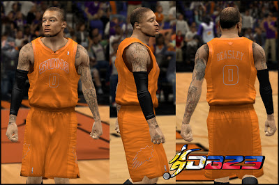 NBA 2K13 Phoenix Suns Big Color Uniform Mod