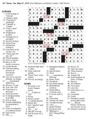 The New York Times Crossword In Gothic 050112 Id Est