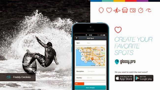 La aplicación para los surfistas Glassy Pro