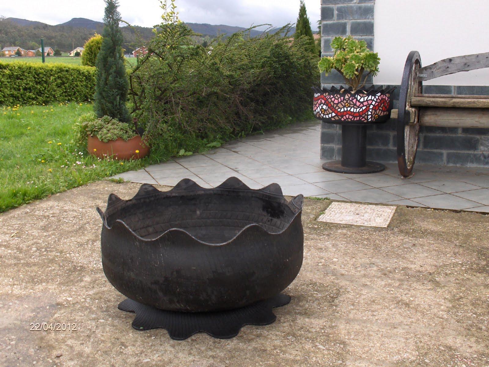 Садовая мебель из покрышек своими руками