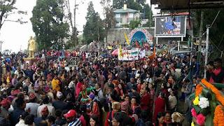 fulpati sobhayatra celebration darjeeling chowrasta