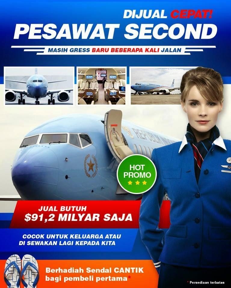 Usulan PDIP Kepada Jokowi untuk Menjual Pesawat Kepresidenan RI