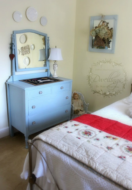 Ugly duckling turned beautiful swan in this colonial farmhouse guest room.