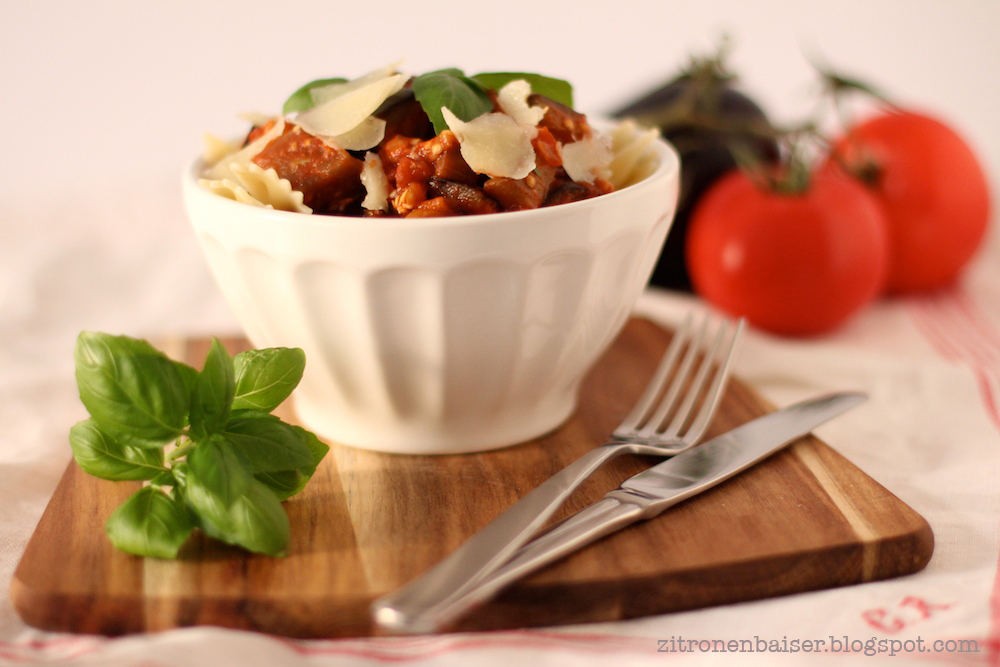Rezept Pasta alla Norma vegetarisch lecker gut