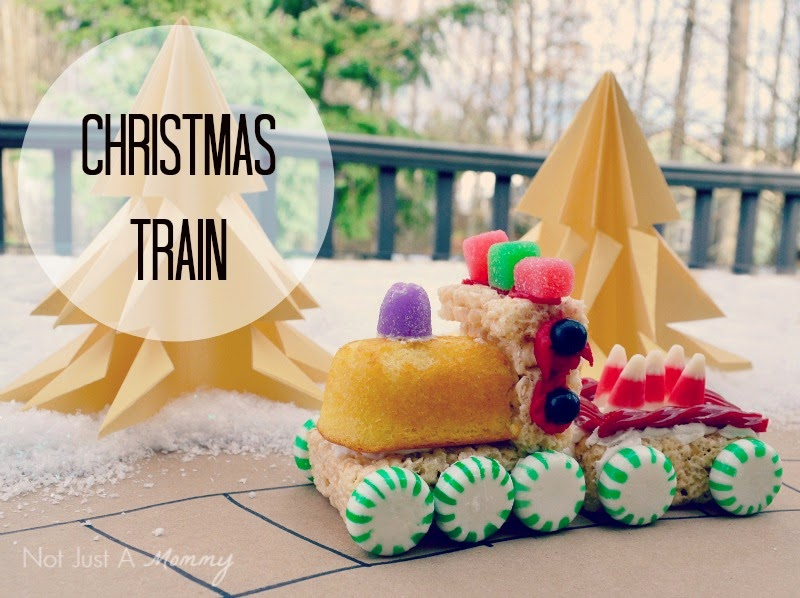 Christmas Trains with Not Just A Mommy
