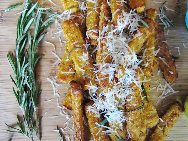 Rosemary Parmesan Polenta Fries