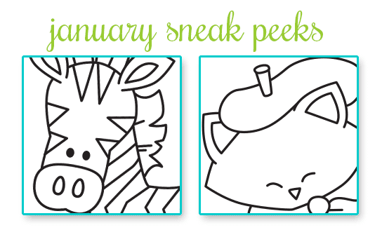 Janury 2015 release - Sneak Peeks from Newton's Nook Designs