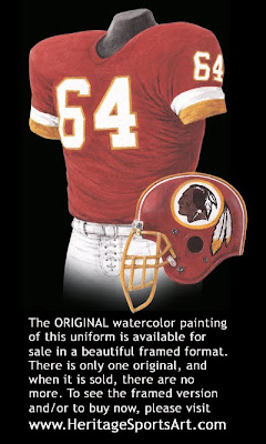 Washington Redskins 1987 uniform