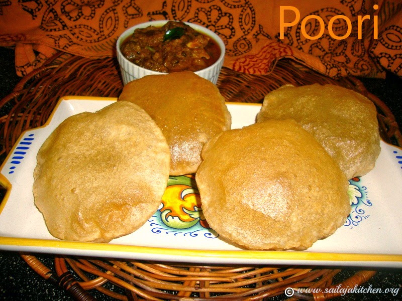 images for Poori Recipe / Puri Recipe - How to make Poori
