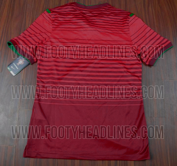 Leaked! Pictures of Portugals brand new 2014 Nike World Cup home kit