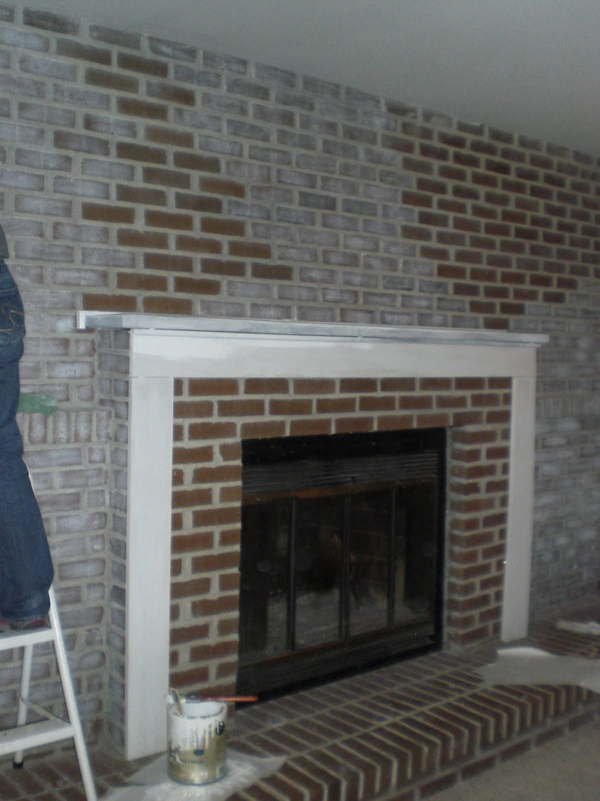 DIY Decor Brick Fireplace Makeover