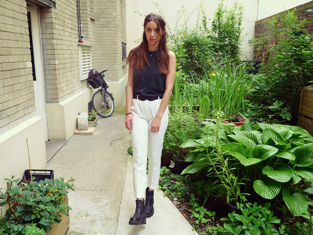 OOTD blog white trousers