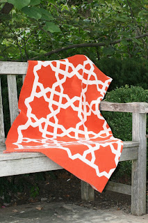 Moroccan Fretwork Pattern Recycled Cotton Environmentally Friendly Throw Blanket
