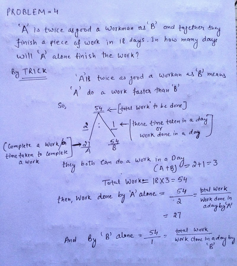 WORK AND TIME SHORTCUT TRICKS , MATH SHORTCUT TRICKS | QUESTION PAPER