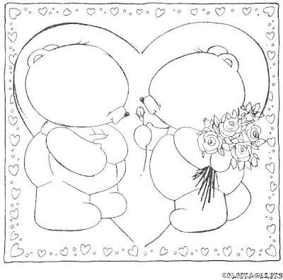 Blog da Professora Edilene: Dia dos Namorados: Desenhos Românticos