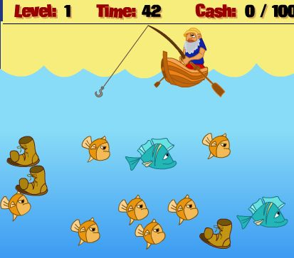 a Typical Fishing Game in